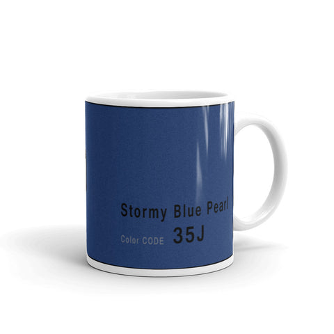 Stormy Blue Pearl Mug, Color Code 35J