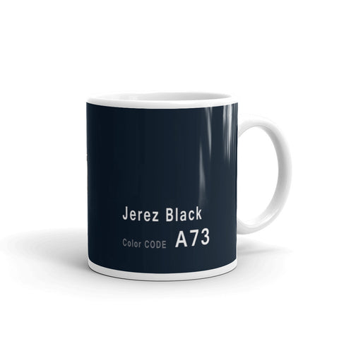 Jerez Black Mug, Color Code A73