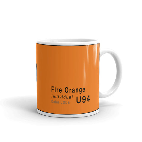 Fire Orange Mug, Color Code U94