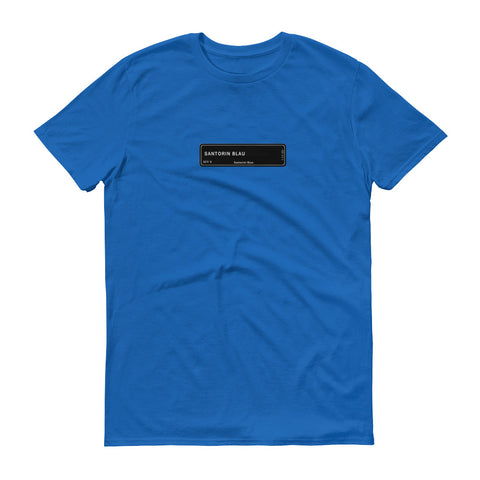 Santorini Blue T-Shirt, Color Code 327