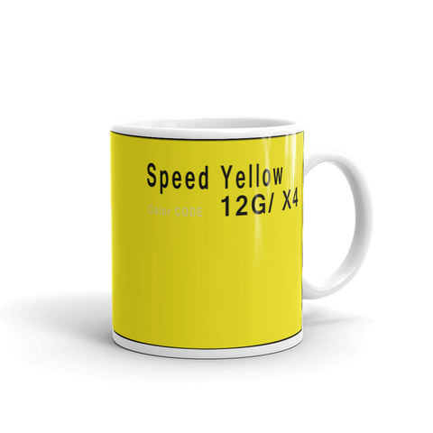 Speed Yellow Mug, Color Code 12G