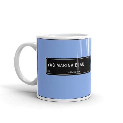 Yas Marina Blue Mug, Color Code B68