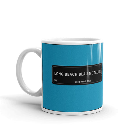 Long Beach Blue Mug, Color Code C16