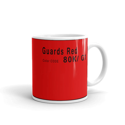 Guards Red Mug, Porsche Color Code 80K 9 1