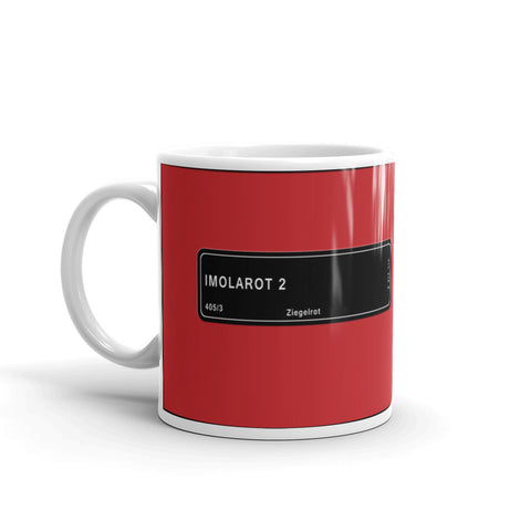 Imola Red Mug, Color Code 405