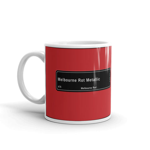 Melbourne Red Mug, Color Code A75
