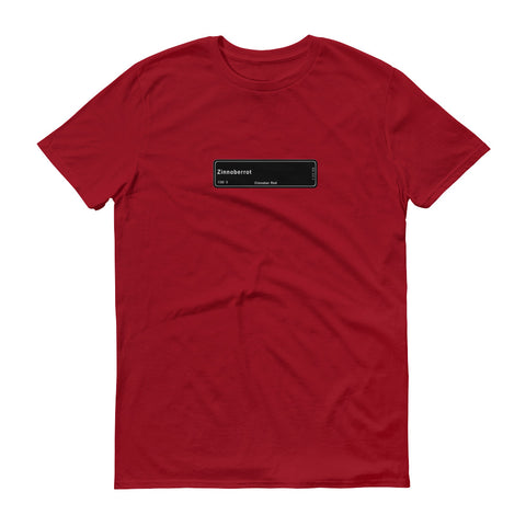 Zinnoberrot Red Shirt, Color Code 138