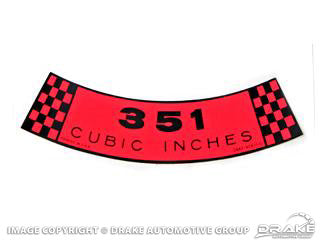 AIR CLEANER DECAL 351