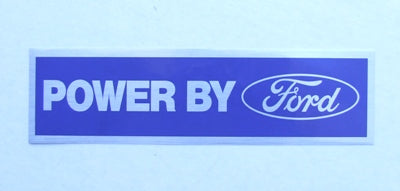 POWER BY FORD DECAL