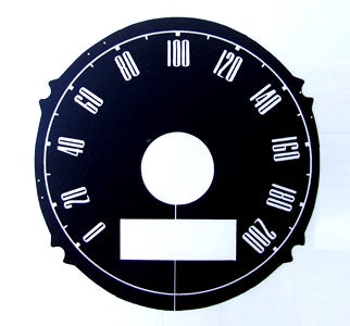 SPEEDO DECAL KMS 1967 120 MPH