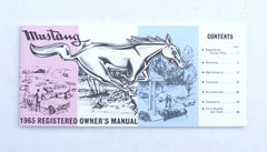 OWNERS MANUAL 1965
