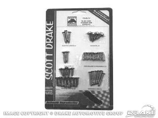 INTERIOR SCREW KIT 1964-1966 CONVERTIBLE