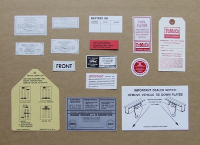 DECAL KIT 1964 1/2