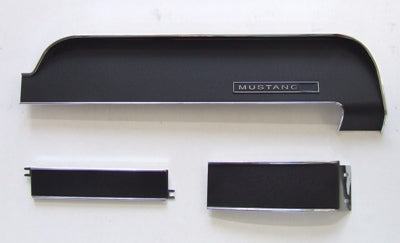 DASH TRIM KIT BLACK 1967-1968