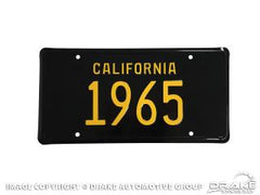 LICENCE PLATE 1965 CALIFORNIA