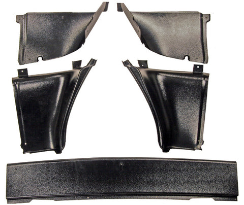 QUARTER PANEL TRIM REAR 1967-1968 FASTBACK  5PC