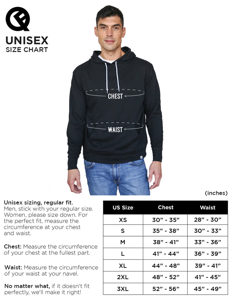 Lite Pullover Size Chart