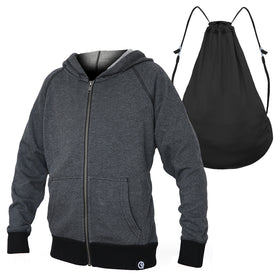 Kids' Full-Zip Hero Hoodie (Heather Charcoal)