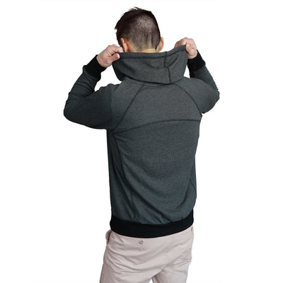 Full-Zip Hero Hoodie (Heather Charcoal)