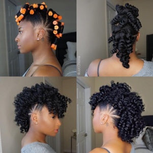STYLE SHOWCASE: HOLIDAY HAIRSTYLING FEATURING ROLLER SETTING, THE SUPER CURLY FAUX HAWK & THE PILED-HIGH PONYTAIL