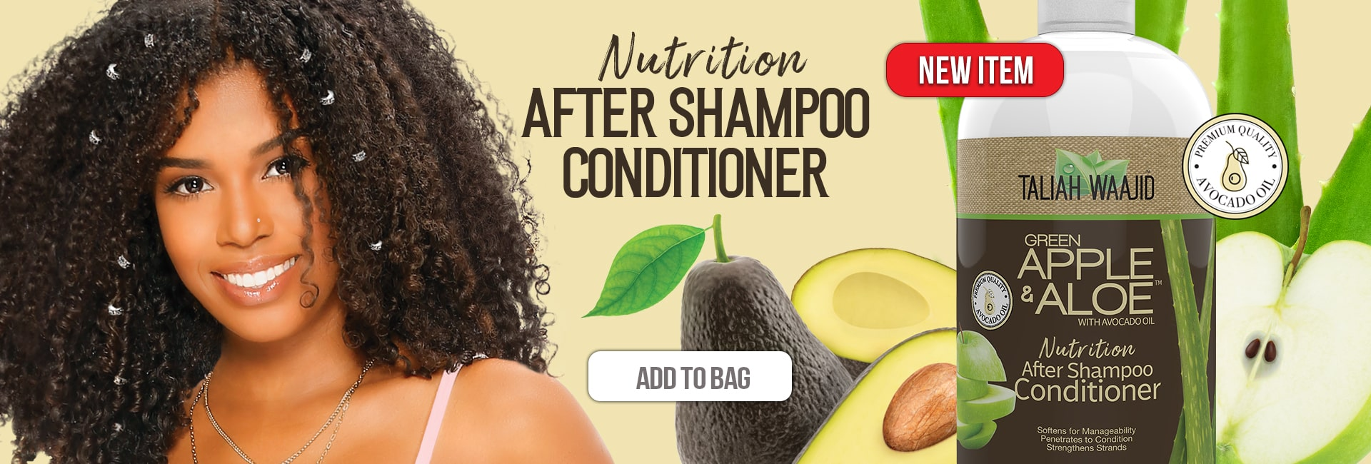 Taliah Waajid Green Apple & Aloe After Shampoo Conditioner