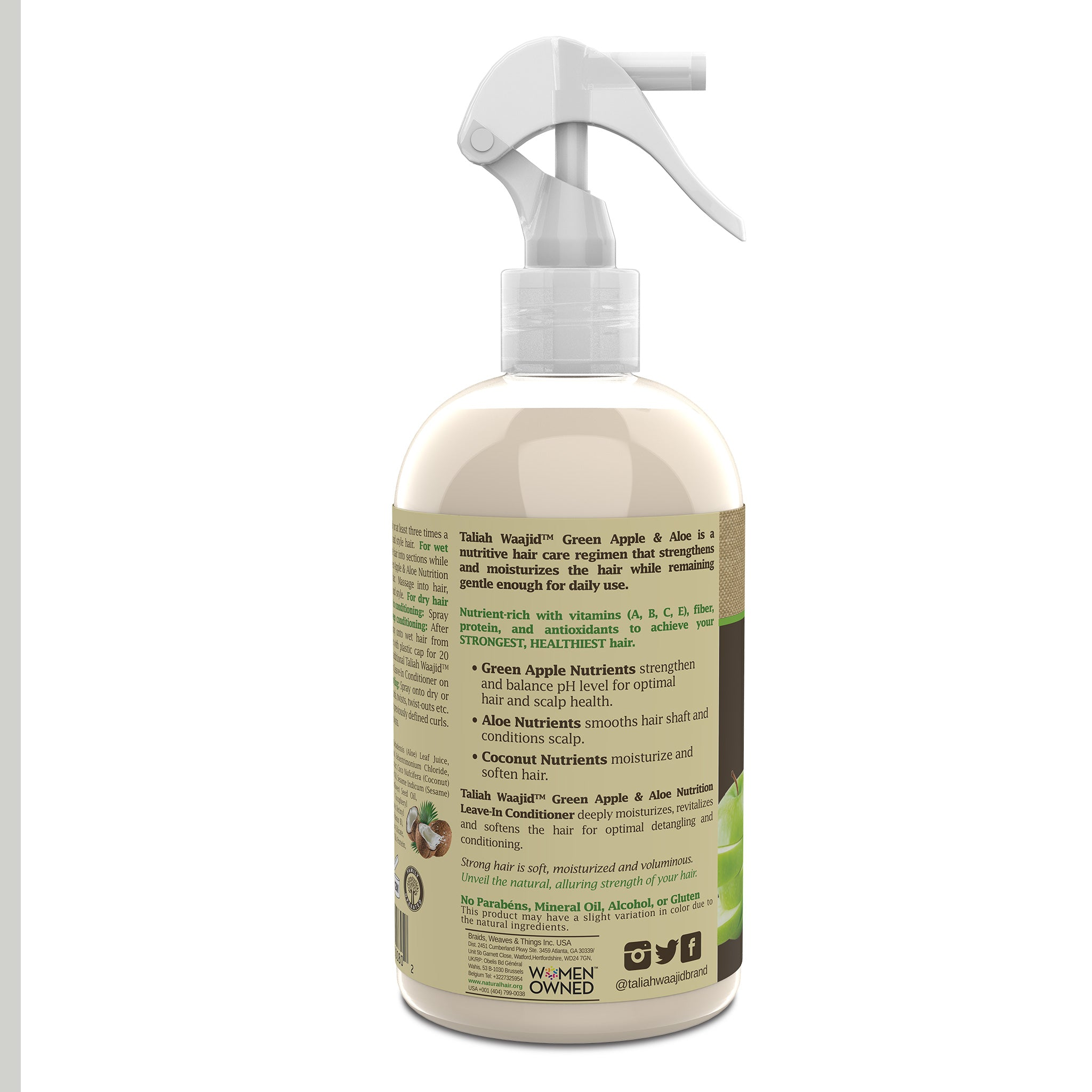 Green Apple & Aloe Nutrition Leave-In Conditioner 12oz Left View