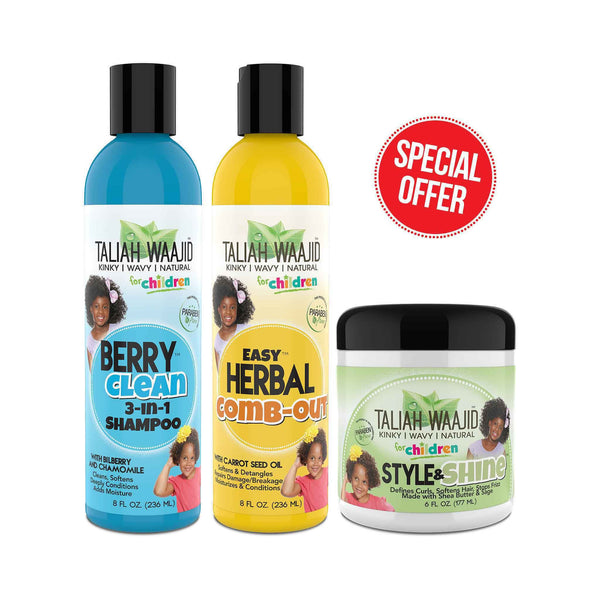 Easy Bundle - For Natural Curly & Wavy Hair Textures (For Children)