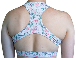FLORAL AR SPORTS BRA (Legging Shorts Sold Separate)