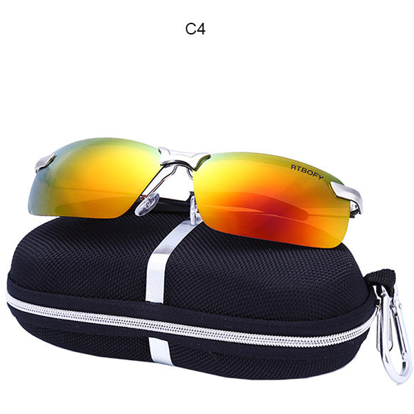 RTBOFY car drivers night vision goggles anti-glare polarizer sunglasses Polarized Driving Glasses With Box.3043