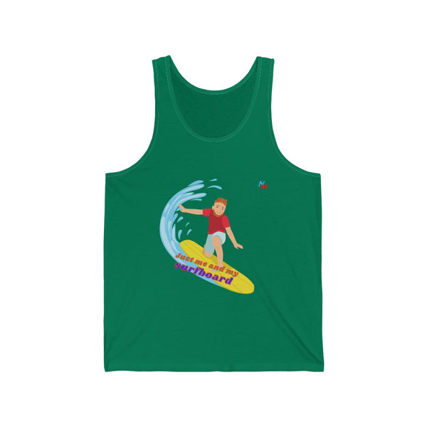 Unisex Jersey Tank men shirts just me and my surfboard men shirts