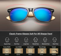 Bamboo Wood Sunglasses Retro Design Men & Women Polarized  Uv400 Model Number: RALF-K1501