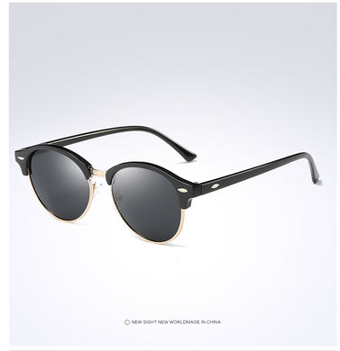 Polarized Round Sunglasses. Mens Womens Semi Rimless Eyewear. Model : RG4246