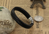 Genuine Leather Men Bracelet Wrap Wristband Classic bangle Jewelry model Number: BA101164