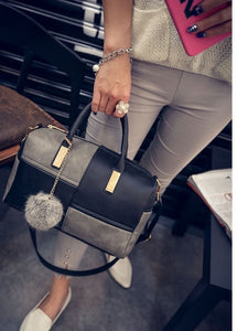 women bags style patchwork pillow shoulder handbags for day and evening