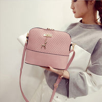 women Bags  and girls 11 colors quality up soft leather with a cute deer pendant