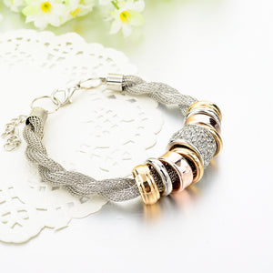 Bracelets Twisted Link Chain Vintage Classic Charm For Women Genuine Austrian Crystal Sbr150364103