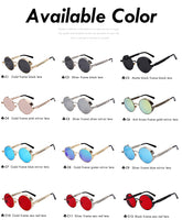 Round Metal Retro Vintage Sunglasses Men Women Glasses Brand UV400.  Model Number: OEM1952