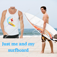 Unisex Jersey Tank men shirts just me and my surfboard