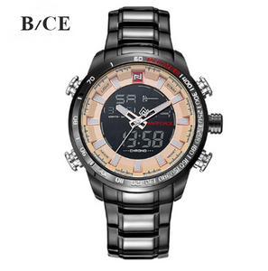Mens Watch Quartz Analog Relogio Masculino Number: NF9093