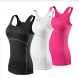 Yoga clothes hirt Tops Women Sexy Sportswear clothes Vest Fitness Size S > XXL - Model : YEL2001