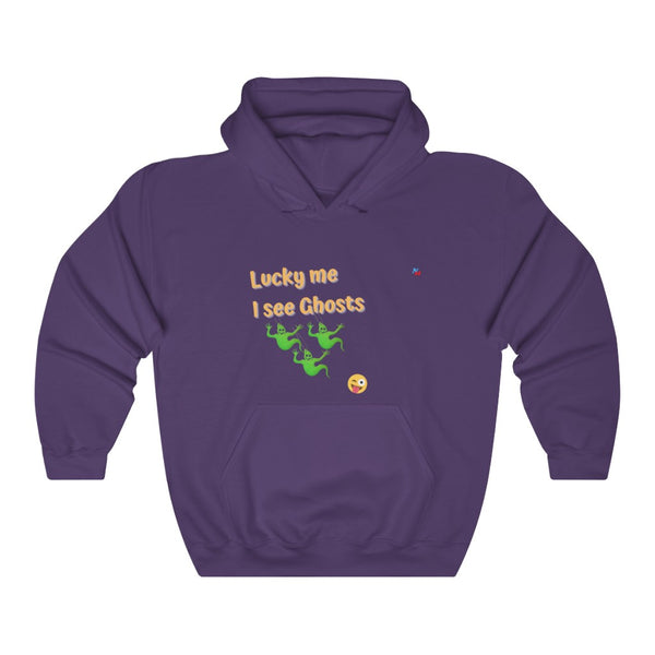 Lucky me I see Ghosts Unisex Heavy Blend Hooded Sweatshirt men shirts