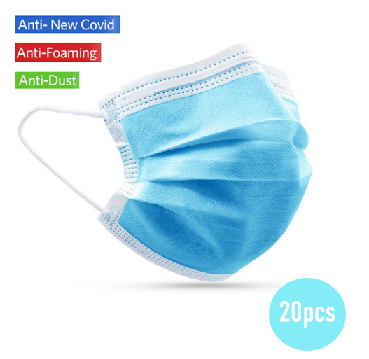 Face Mask Respirator 3Layers protection against viral bacteria health
