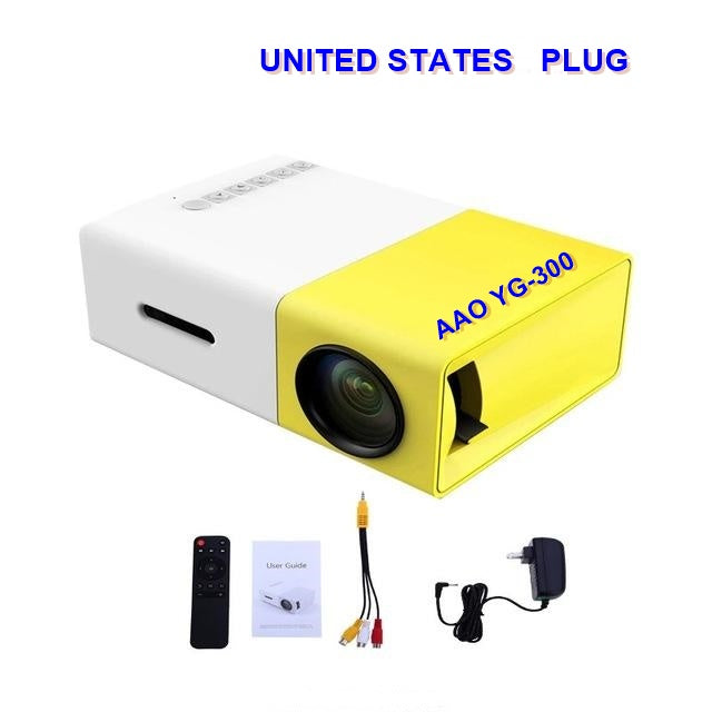 LED Portable Projector mobile Media Player Gadgets Original Mini AAO YG300  Projector 500LM 3.5mm
