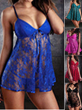 SEXY mini dress lingerie lace nightwear underwear free G-STRING