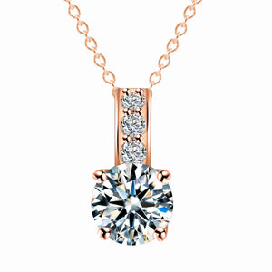 Necklace Zircon stone with chain Trendy Gold Silver Color