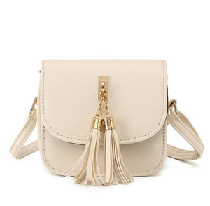 Women Bags Candy Color Tassel Messenger Bags Female Handbag Shoulder
