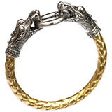 leather Tibetan dragon bracelet silver plated titanium fashion Model Number: 111