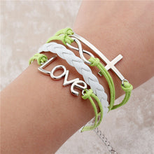 leather bracelet infinite double multilayer handmade  for woman and girls new fashion jewelry