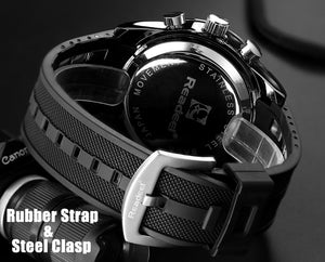 Men Watch Sport military waterproof LED digital quartz Relogio Model : 5885854-black