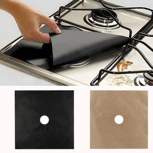 1PC Reusable Gas Range Stove GadgetsTop Burner Protector Liner Cover Gas oven cooker covers Sheet For Cleaning